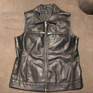 Faux Leather Vest - Medium